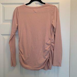 Isabel Maternity by Ingrid & Isabel Tops - Blush Pink Maternity Shirt Medium